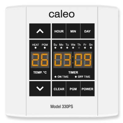 Терморегулятор CALEO 330PS встраиваемый сенсорный, программируемый, 3 кВт