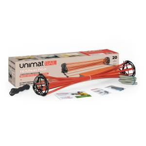 Стержневой теплый пол UNIMAT RAIL 130 Вт/м2, 7 пог/м